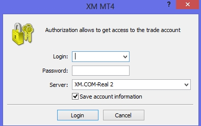 XM MT4 - Log in