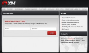 XM Log in to Member's Area